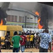 """""""Another Wahala Again"""": A police station at Lagos state is on fire, check out the destination"""