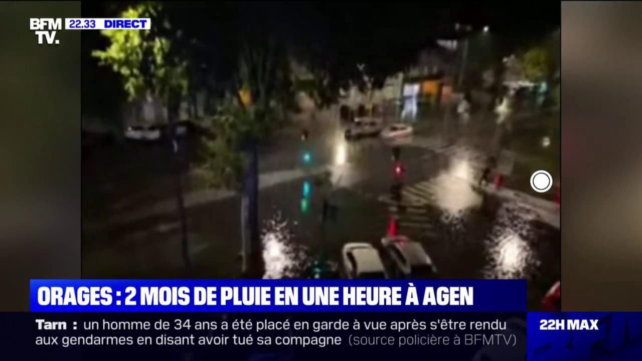 """""""Il a tellement plu d'un coup que les évacuations n'ont pas pu fonctionner"""": un habitant d'Agen raconte les inondations"""