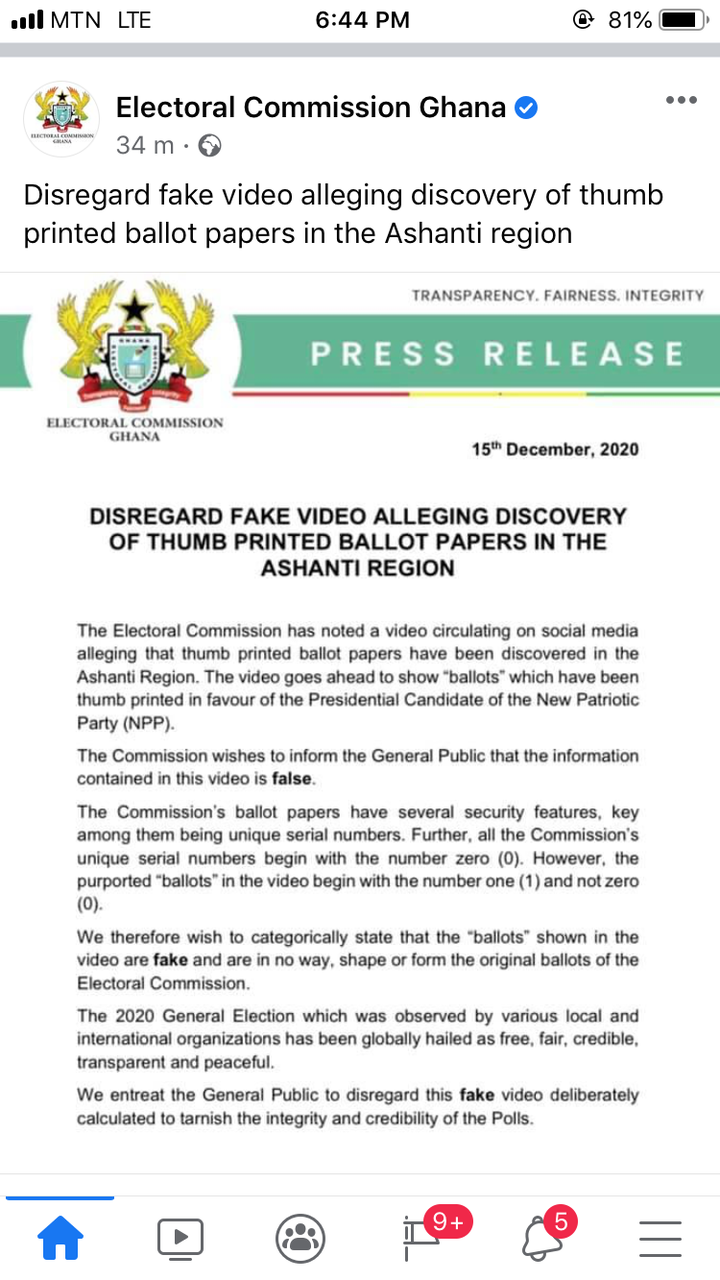 72ac7db2cdf6da456cd2a3e11603fe70?quality=uhq&resize=720 - EC Breaks Silence Over Video Alleging Discovery Of 'Fraudulent' Ballot Papers Stamped For Nana Addo