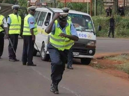 Dramatic Scenes in Kayole After A Daring Boda-Boda Operator Snatches A Police Officer's Phone