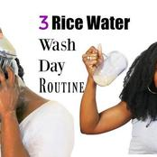 Ladies, Use Rice Water For Extreme Hair Grow