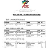 Check confirmed Nedbank Cup last eight fixtures, venues and dates