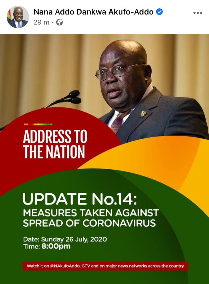72e1d6085153708e0c063f01d8fe96c2?quality=uhq&resize=720 - Just In: Nana Addo Addresses The Nation After 14-Days Of Isolation