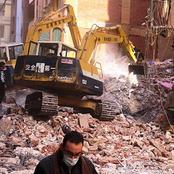 تفاصيل حادث انهيار منزل من 4 طوابق في المحلة.. استخراج 6 جثث بينهم طفلة واثنان مصابين