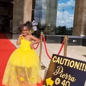 Such A Cute Princess, Dj Pierra Makena's Daughter Adores Netizens During Her 40th Birthday