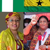 Aisha Buhari & Ghana's First Lady, Who Looks More Beautiful On Native? See Photos