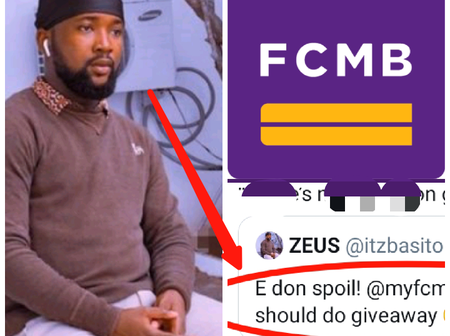 After Nigerian Guy Asked FCMB To Do Giveaway This Evening On Twitter, Look At What FCMB Replied Him