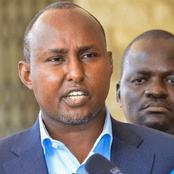 [Video] Junet Mohamed Want First Covid-19 Vaccine Given To DP Ruto and The Poor, Asks Uhuru To do This