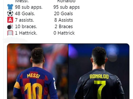 Cristiano Ronaldo and Messi competes again! See their career substitution records