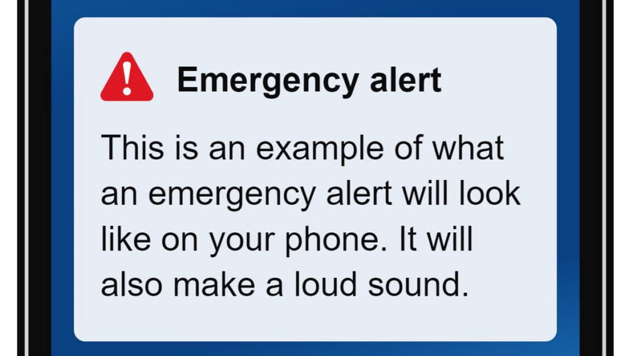 NEW MOBILE PHONE EMERGENCY ALERT SYSTEM TO BE TESTED TODAY