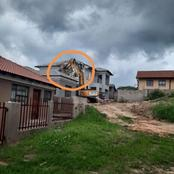 A lady decided to end a relationship with a man who build her a house & he pulled up with a TLB. See