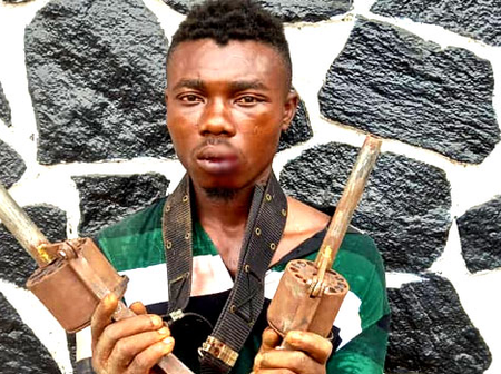 After Segun Agodo was arrested for killing policeman, see the type of gun police recovered from him