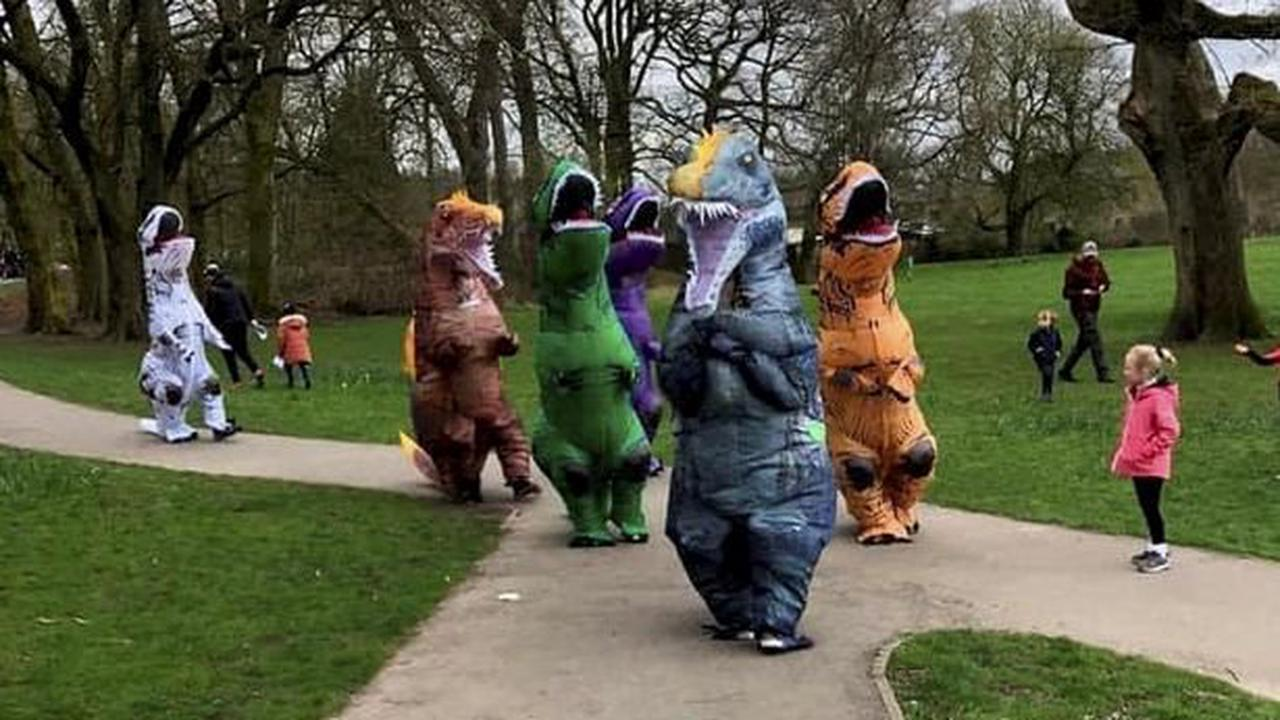 Man calls police on mum and friends dressed as dinosaurs in local park