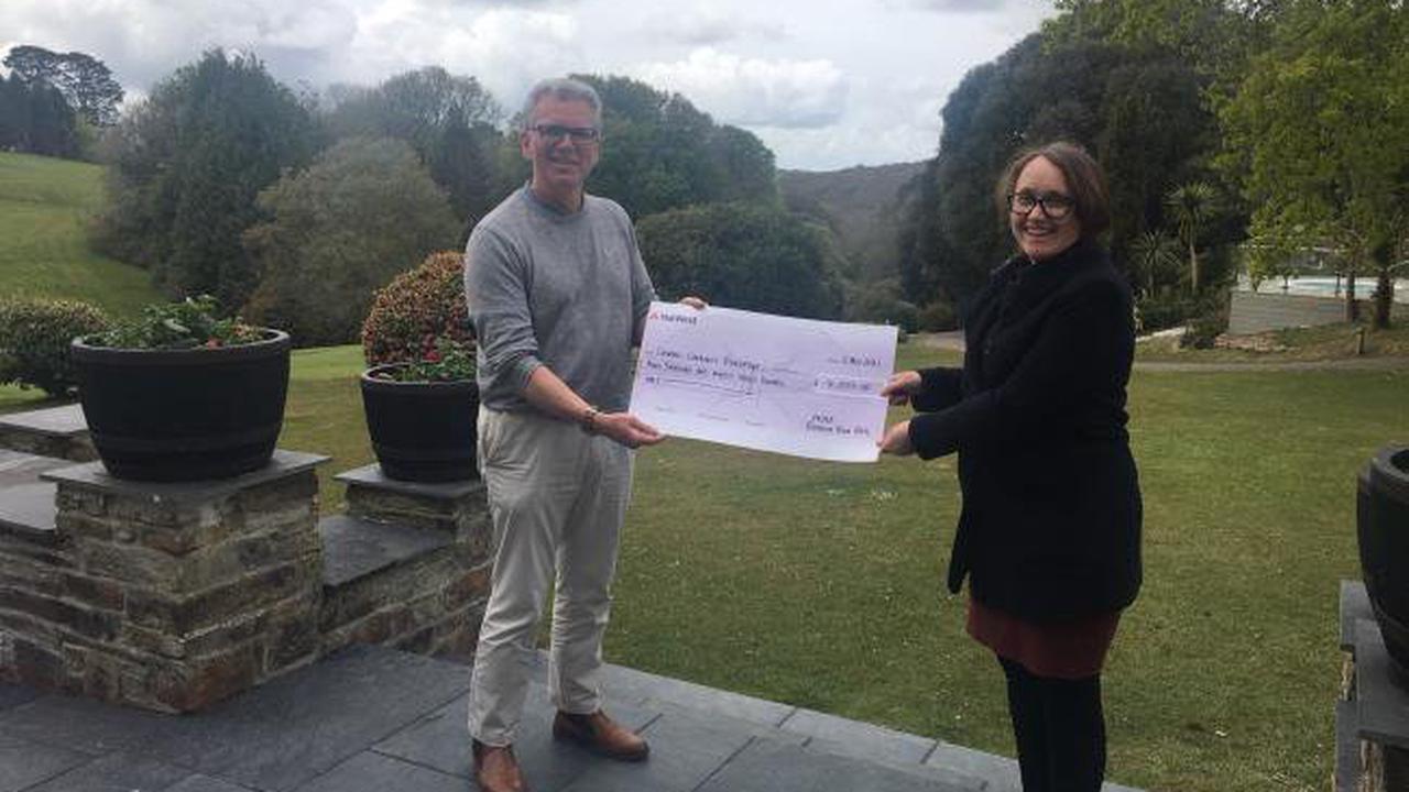 Award-winning hotel raises thousands for Cornish communities after fundraising