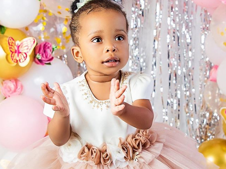 ENTERTAINMENT: Gospel Singer, Sinach And Husband Threw Big Birthday party For Their First Child.