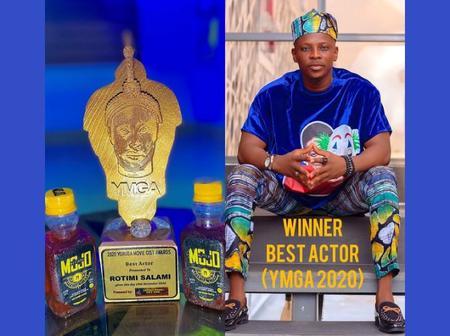 Yoruba Actor Rotimi Salami Wins The Best Actor At Yoruba Movie Gist Awards 2020.