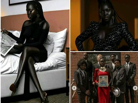 Meet Nyakim, The Darkest Girl In The World Who Is Called Queen Of The Dark(Photos).