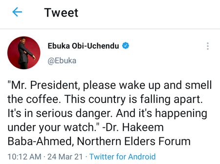 Twitter user who corrected Ebuka over grammatical error in his post gets dragged