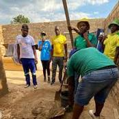 Sundowns Fans Makes History by Building 5 Room House for Single Mother