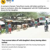 Netizens React After a Woman Disappears With Daughter's Dowry Stating This Reason