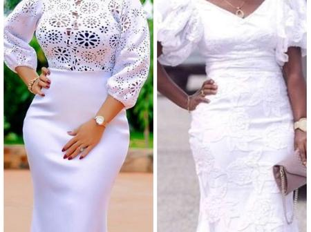 Dear Mothers, Here Are Some Attractive And Charming White Lace Styles You Should Try Out