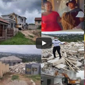 Video: Sugar Daddy pulls down mansion he bought for a slay queen after dumping him