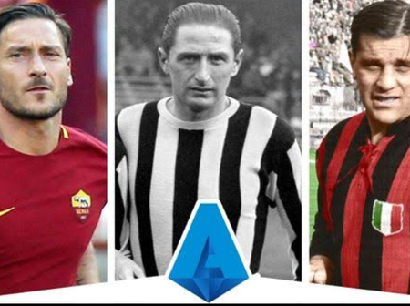 Check Out The Top Ten Highest Goal Scorers Of All Time In Italian Serie A