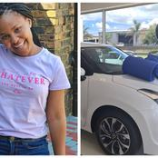 Congratulatory messages pour in for Zama from Idols SA as she buys a new set of wheels.