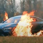 Unhappy With The Service, White Man Burns His R2.8M Mercedes To A Crisp.