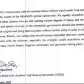 Good News For The Youths As ASUU Finally Releases A Memo To Federal Government!