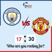 If Manchester City Defeat Manchester United In Today's Match, See The Record They Will Set