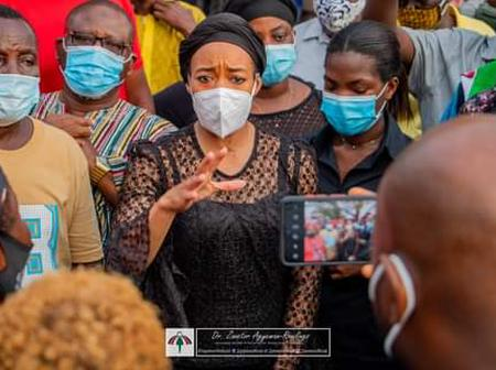 Ghanaians Reacts As Zanetor Rawlings Storms Odawna Market Despite Mourning Her Father