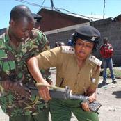 Drama In Meru As A Cop Rains Blows On His Boss