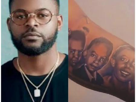 Falz Tattoos His Entire Family On His Arm And It Looks Great (Photos)