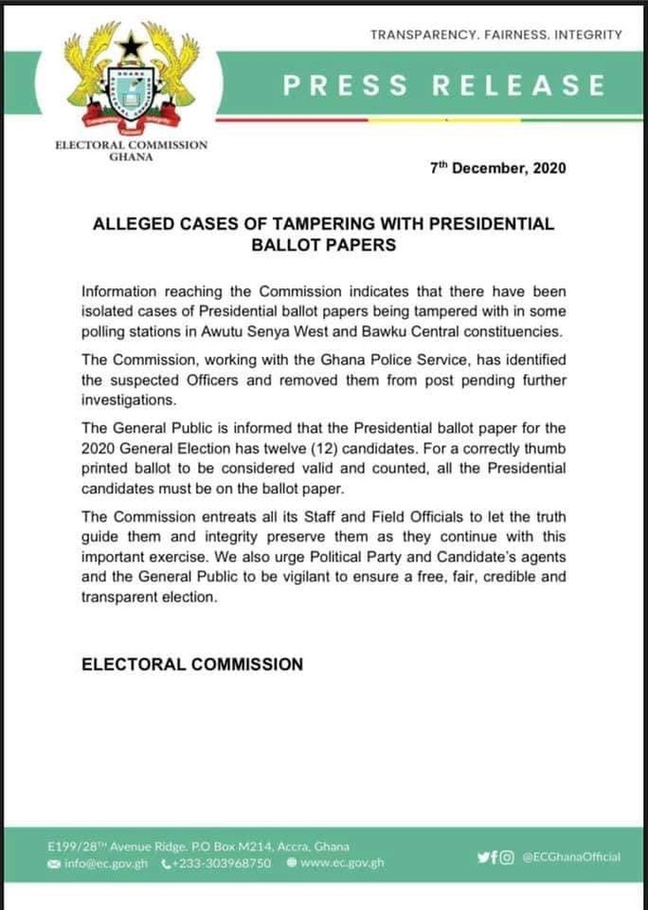 74d08a159ac96b1d9821981acb7ea828?quality=uhq&resize=720 - Electoral Commission Removes Two Officers From Post Following Tampering Of Ballot Papers