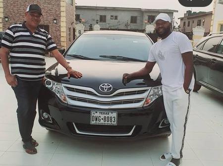 Kokozaria Celebrate With Yoruba Actor, Sir K On His Brand New Car