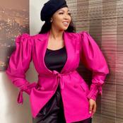 Ayanda Ncwane wears her late mother's beret in recent outfit.