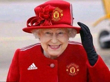 Manchester United Fans React As Queen Elizabeth Of England Emerged With The United Outfit