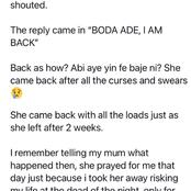 Man narrates what his neighbor's wife did 2 weeks after she packed from her husband's house