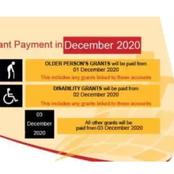 SASSA New Payments Dates For The Month Of December.