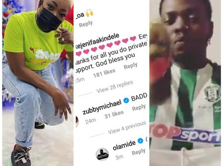Check Out Funke Akindele's Comment After Olamide Posted A Video On His Instagram Page