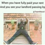 When you have fully paid your rent and you see your landlord passing by and other funny memes
