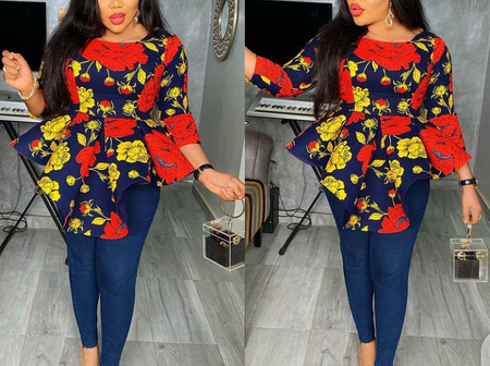 Forget Satin And Chiffon Top, Check These Decent Sophisticated Ankara Top To Rock This New Year With