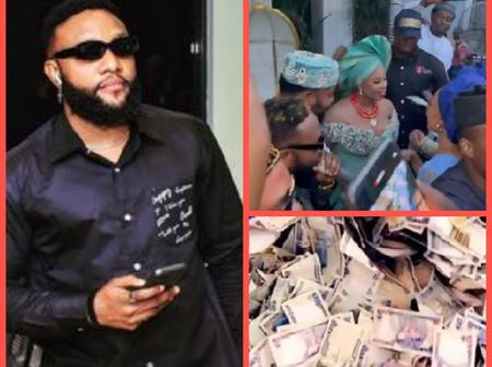 Reactions As Kcee Shows Off The Huge Money He Was Sprayed In His Last Performance Show