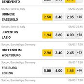 Earn Big Today With The Following Accurately Predicted Matches.