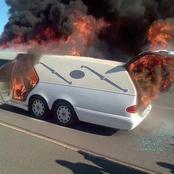 Afrique du Sud : un corbillard transportant un corps prend feu en pleine route ce samedi