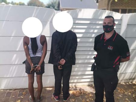 A Couple Was Arrested For House Breaking At Stander Street In Brackenhurst.