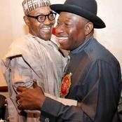 Photos Of Ex-President Johnathan And President Buhari Embracing Each Other