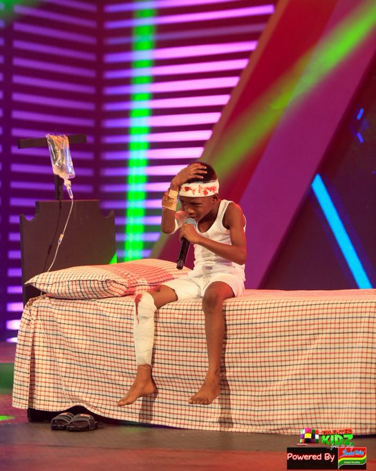 759601b285124739bc58a6bf6bd0f8d8?quality=uhq&resize=720 - Talented Kids Contestant, Akwadaa Nyame Dumbfounds Audience After His Performance As Accident Victim