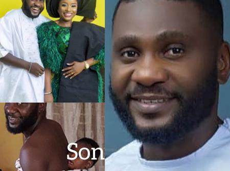 Meet Handsome Yoruba Actor Jide Awobona, His Beautiful Wife And Their Child